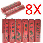 10PCS 3.7V 18650 Battery 5000mAh Rechargeable Li-Ion Battery + 2 X Charger USA