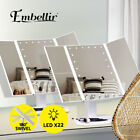 Embellir Makeup Mirror With Led Light Standing Mirror Magnifying Tri-fold Touch