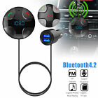 Wireless Bluetooth 4.2 Car USB Charger FM Transmitter Radio Adapter MP3 Player