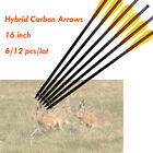 """16"""" Hybrid Carbon Arrows Crossbow Bolts for Archery Bow Hunting Shooting 6/12pcs"""