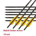 """18"""" Archery Hybrid Carbon Crossbow Bolts Arrows for Bow Hunting Shooting 6/12pcs"""