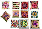 Indian Suzani Cushion Cover Embroidered Boho 100%cotton Pillow Cases Throw Cover