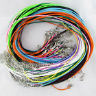 50pcs 18 Inch Bulk Lot Leather String Pendent Necklace Cords Rope Straps