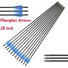 "28"" Archery Fiberglass Arrows for Compound Bow Hunting Outdoor Games 6/12pcs/lot"
