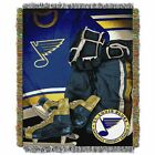 """Blues OFFICIAL National Hockey League, """"Vintage"""" 48""""x 60"""" Woven Tapestry Throw $36.71 USD on eBay"""
