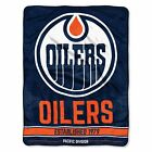 """Oilers OFFICIAL National Hockey League, """"Puck"""" 50""""x 60"""" Sherpa Throw  by The Nor $35.35 USD on eBay"""