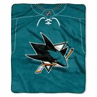 """Sharks    OFFICIAL National Hockey League, """"Jersey"""" 50""""x 60"""" Raschel Throw  by T $36.71 USD on eBay"""