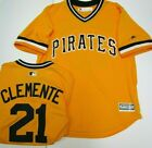 ROBERTO CLEMENTE PIRATES GOLD JERSEY NEW MENS LARGE MAJESTIC