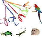 Adjustable Reptile Lizard Parrot Turtle Harness Hauling Cable Rope Pet Leash NEW