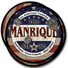 Manrique Family Name Drink Coasters - 4pcs - Wine Beer Coffee & Bar Designs