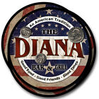 Diana Family Name Drink Coasters - 4pcs - Wine Beer Coffee & Bar Designs