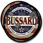 Bussard Family Name Drink Coasters - 4pcs - Wine Beer Coffee & Bar Designs