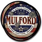 Mulford Family Name Drink Coasters - 4pcs - Wine Beer Coffee & Bar Designs