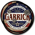 Garrick Family Name Drink Coasters - 4pcs - Wine Beer Coffee & Bar Designs