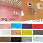 5/10PCS 3D Wallpaper Stone Brick Wall Sticker Panel PE Foam Home Wall Decoration