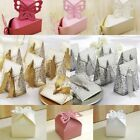 50PCS Butterfly Wedding Favour  Sweet Cake Gift Candy Boxes Table Decor