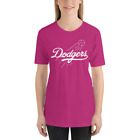 Los Angeles Dodgers pink T-Shirt white Graphic Cotton Adult Logo Jersey LA S-2XL on Ebay