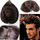 Toupee Remy Human Hair Hairpiece Micro Thin Skin NPU PU Replace Handsome Men MY $99.5 USD on eBay