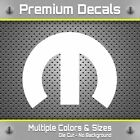 "Mopar Decal Sticker Dodge Mopar ""M"" Logo Vinyl Sticker Hemi SRT8 Decals Graphics $2.97 USD on eBay"