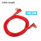 USB Type C Cable Quick Charge QC3.0 USB-C Charging Phone Data Cable Black/Red
