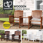 Gardeon Wooden Garden Bench Chair Table Loveseat Outdoor Furniture Patio Park