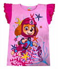 Girls Paw Patrol T-shirt 100% Cotton Top Pink Kids Tee New Age 1 2 3 4 5 6 Years