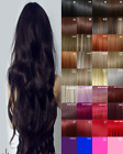 Hair Extensions Clip in real Human Feel Mid Brown Bleach Blondes Blue Copper red