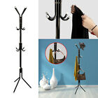 12 Hook Coat Hanger Stand 3 Tier Hat Bag Clothes Metal Storage Tree Style Rack
