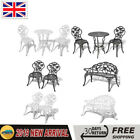 Bistro Table And Chairs Set Cast Aluminium Metal Garden Bench Patio Chairs New