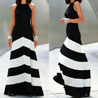 Womens Formal Wedding Striped Maxi Long Dress Lady Evening Party Ball Prom Gown $14.62 USD on eBay