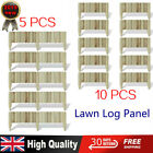 5/10x Lawn Log Panel FSC Pine Wood Arched Outdoor Garden Patio Border Palisade