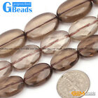 Natural Faceted Oval Smoky Quartz  Loose Gemstone Beads  For Jewelry Making