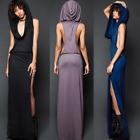Steampunk Sexy Dress Womens Casual Sleeveless Hooded Dress Skinny Party Costume