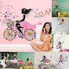 Cute Diy Floral Lovely Girls Art Wall Stickers Kids Rooms Wall Decals Home Decor