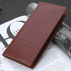 Men's Clutch Billfold Leather Wallet ID Card Holder Purse Checkbook Long Handbag
