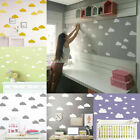 Cloud Wall Sticker Removable Baby Kids Nursery Home Wall Diy Decal Gift Decor