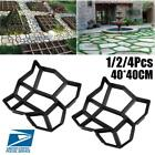 1/2/4Pcs DIY Driveway Concrete Stone Mold Paving Pathway Stepping Stone Mould US image