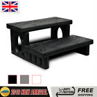 Spa Steps Hot Tub 2 Tier Patio Steps Non-Skid Reversible Treads Plastic Jacuzzi