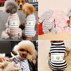 Pet Dog Cat Knitted Jumper Small Puppy  Stripes Spring Winter Warm Clothes