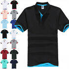 Mens Polo Shirt Dri-Fit Golf Sports T Shirts Summer Jersey Casual Short Sleeve image