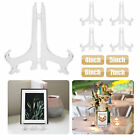 5 Pack Clear display easel Stand Plate Photo Picture Frame Pedestal Holder folds