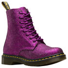 Dr.Martens 1460 Pascal Glitter PU Lace-Up Combat Ankle Womens Boots