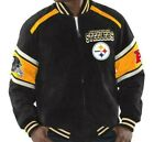 NFL Colorblocked Suede Jacket Officially Licensed GIII Pittsburgh Steelers NEW