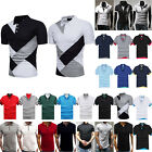 Men Golf Sports Polo Shirts Summer Casual Short Sleeve Slim Fit T-shirt Tee Tops