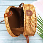Summer Beach Bag Women Straw Rattan Woven Crossbody Handbag Tote Shoulder Purse