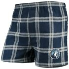 Minnesota Timberwolves Concepts Sport Homestretch Flannel Boxer Shorts - Navy on eBay