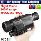 Pro Tactical IR Night Vision Monocular Scope 200m 5X40 Zoom DVR Optics Hunting