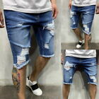 Mens Shorts Summer Trousers Boys Casual Denim Jeans Ripped Hot Pants Shorts