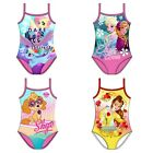 New Official Disney Girls Swim Costumes - Swimming Holiday Pool Gift - 2-6 Years