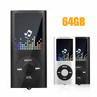 Portable 40 Hours HiFi MP3 Music Player FM Lossless Sound up to 64GB + Earphone